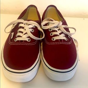 Vans Port Royale Burgundy Size 5 Women 6.5